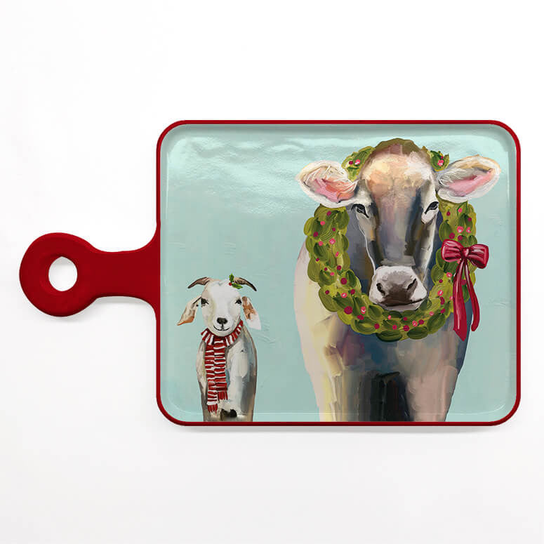 Festive Cow Cheese Board Serveware