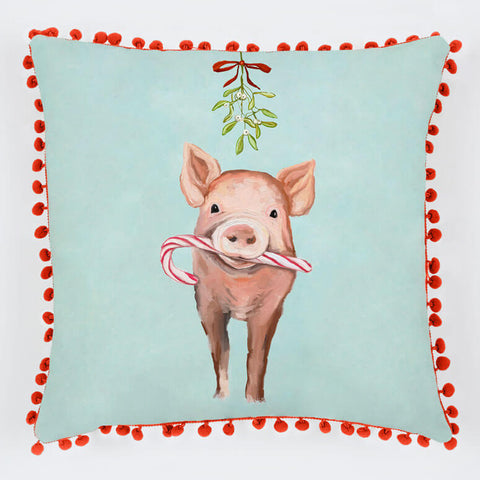 Festive Pig Pillow - Holiday Collection
