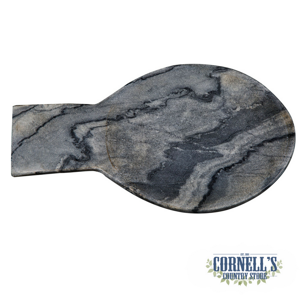 Grey Marble Spoon Rest | Cornell's Country Store