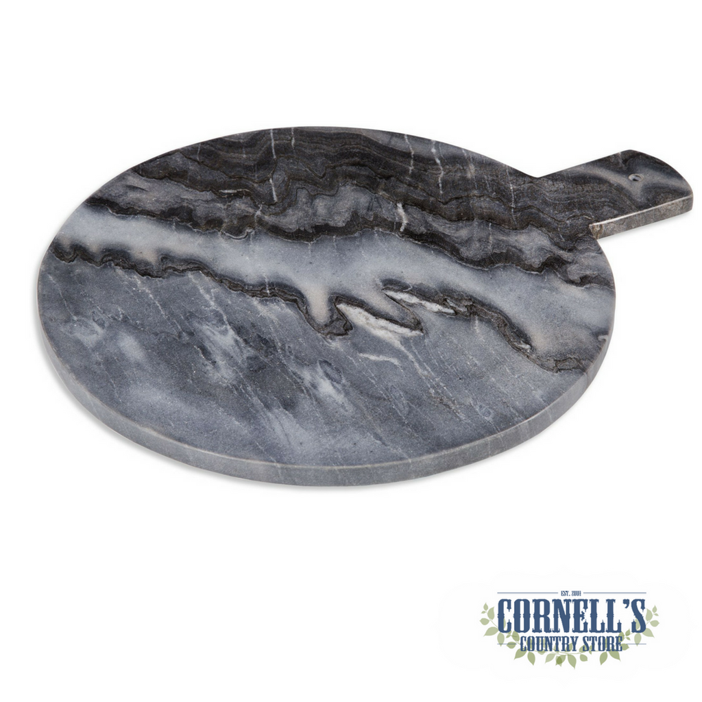 Grey Marble Round Cutting Board | Cornell's Country Store