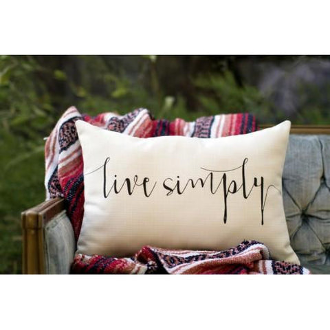 live simply accent pillow