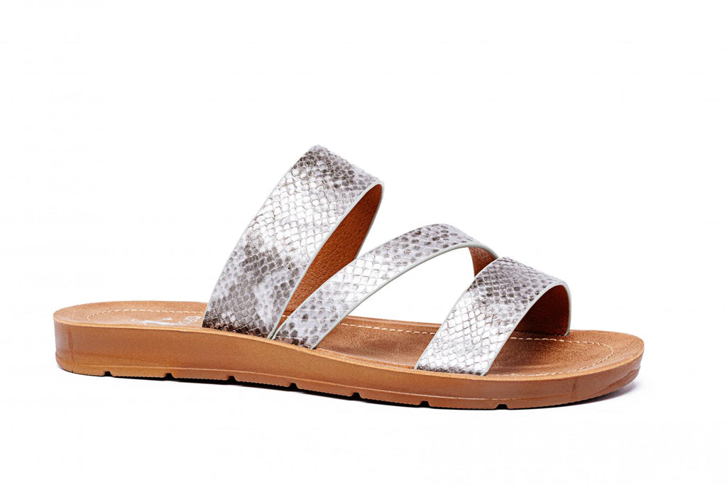 Corkys Footwear Lydia - Silver Snake | Cornell's Country Store