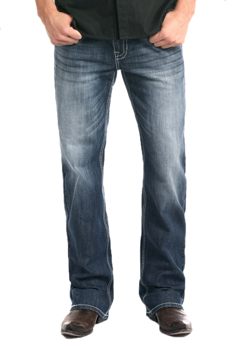 Relaxed Fit ReFlex Straight Leg Double Barrel Jeans
