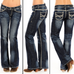 Rock & Roll Denim Dark Vintage Riding Jeans