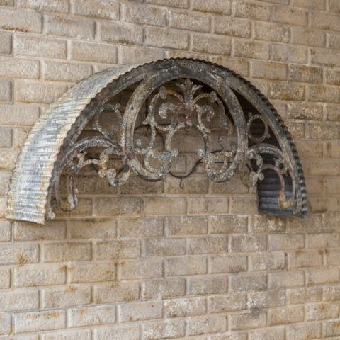 Metal Filigree Window Arch