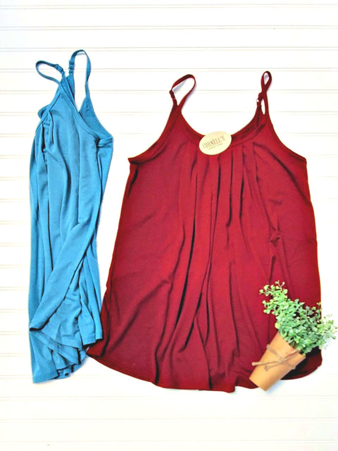 Loose Fit Premium Cami, Adjustable Straps