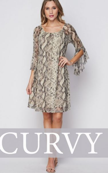 Wendy Snakeprint Mesh Dress
