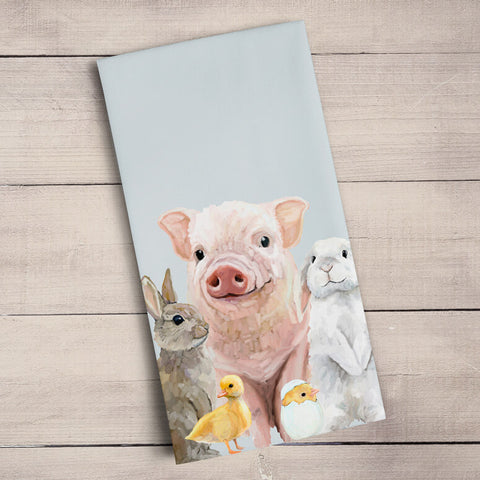 Spring Animal Babies Tea Towels | Cornell's Country Store
