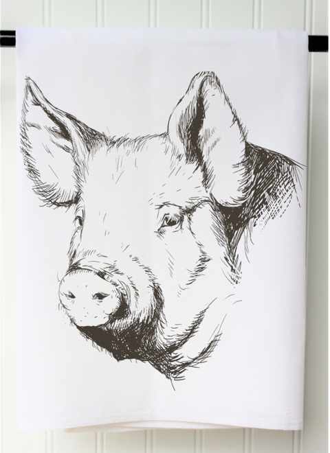 Pig Flour Sack Towel from the Farmhouse Home Decor Collection