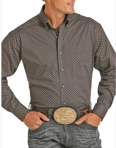 PANHANDLE SLIM ATHLETIC FIT TUF COOPER STRETCH POPLIN SHIRT #TCD9534