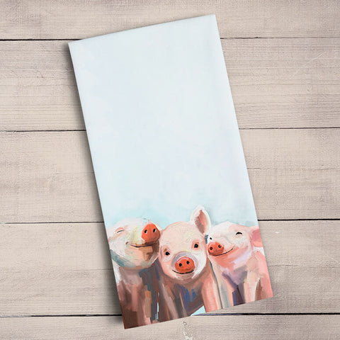 Three Little Piggies Tea Towels | Cornell's Country Store