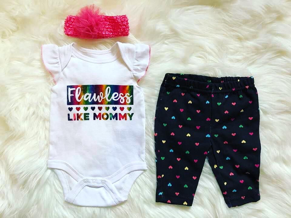 "Newborn ""Flawless Like Mommy""  3-Piece Set"