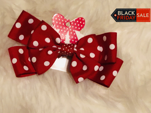 "5"" Red/White Polka Dot Bow"