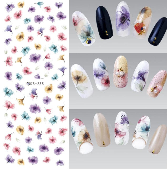 Number 1 Super Colorful DIY Nail Stickers - Mystufffinder
