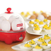 red DASH egg cooker