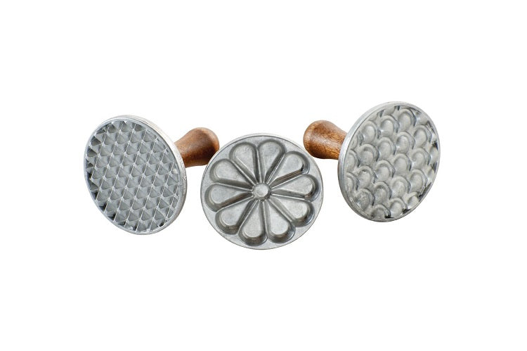 Nordic Ware Heirloom Cast Aluminum Cookie Stamps, Set of 3