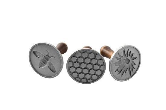 Nordic Ware Heirloom Cast Aluminum Honey Bee Cookie Stamps, Set of 3