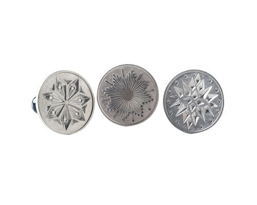 Nordic Ware Heirloom Cast Aluminum Starry Night Cookie Stamps, Set of 3
