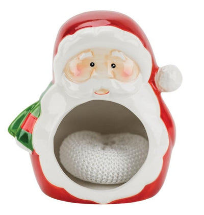 Santa Claus with Tree Scrubby Holder