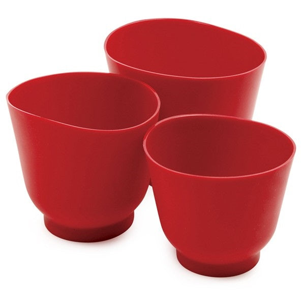Norpro 3 Piece Red Silicone Bowl Set