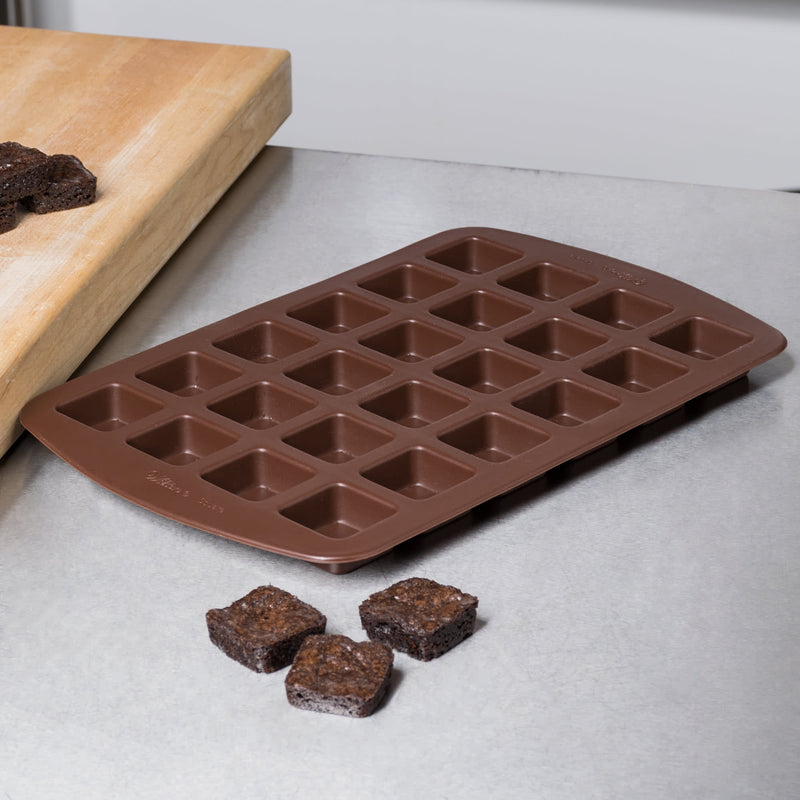 Wilton Silicone 24-Compartment Square Bite-Size Brownie/Treat Mold