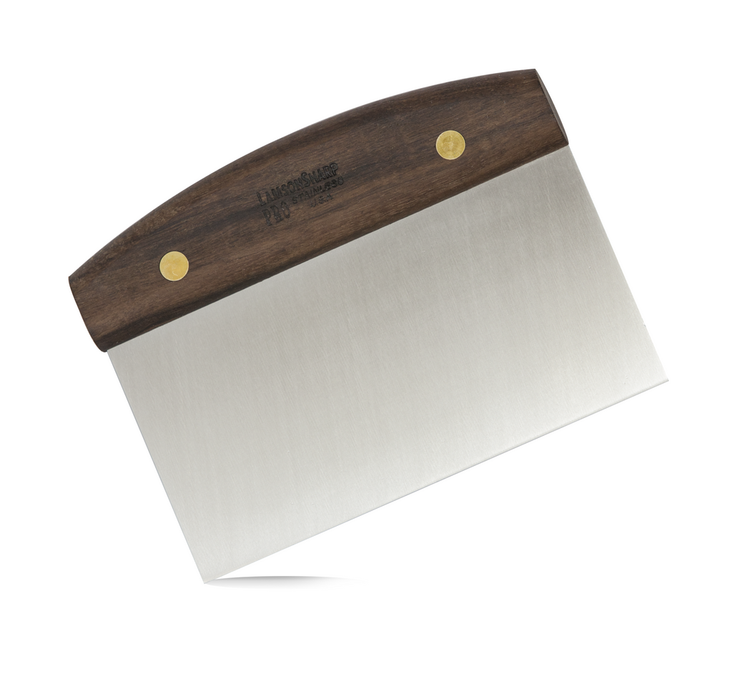 "Lamson Walnut 3"" x 6"" Dough Scraper"