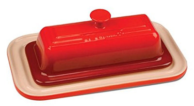 Le Creuset Stoneware Covered Butter Dish - Cherry Red