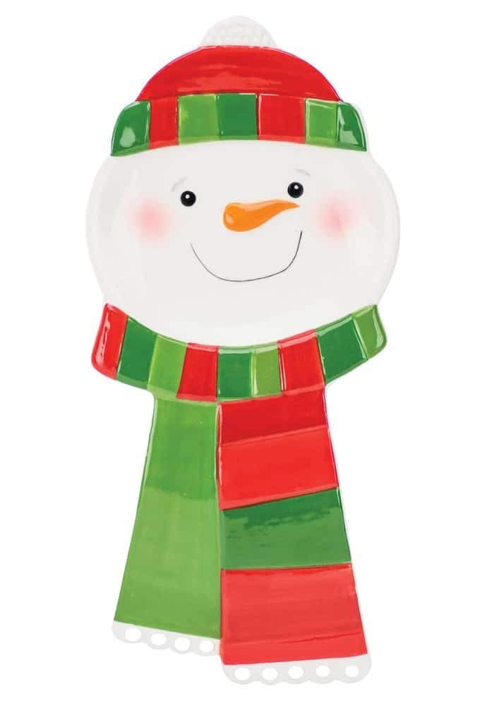 Holiday Lite Snowman Spoon Rest