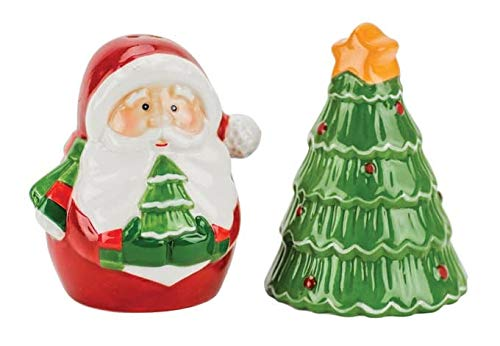 "Boston Warehouse ""Santa and Tree"" Salt & Pepper Shakers"