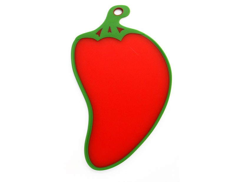 "Dexas Red Pepper Cutting & Serving Board 15.75"" x 9"""