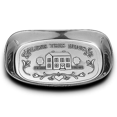 "Wilton Armetale ""Bless This House"" Bread Tray"