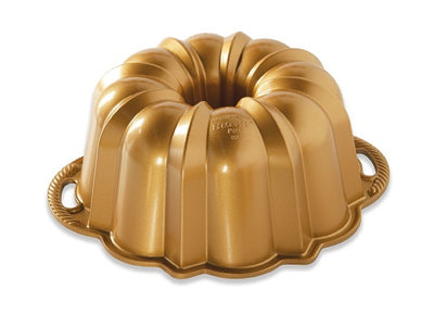 Nordic Ware Anniversary Premier Gold 10-15 Cup Bundt Pan in Gold