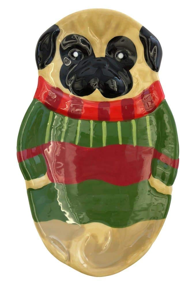 "Boston Warehouse ""Pugs and Kisses"" Spoon Rest"