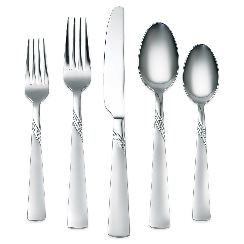Cambridge Kit Frost 45-Piece Flatware Set