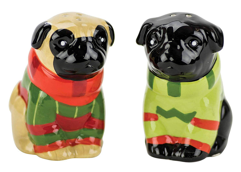 "Boston Warehouse ""Pugs and Kisses"" Salt & Pepper Shakers"