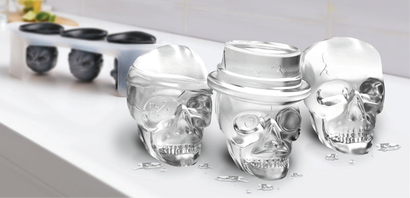 Tovolo Silicone Skull Ice Molds - Set of 3
