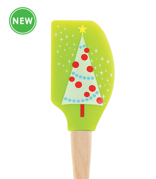 "Tovolo ""Trimmed Tree"" Wooden Handle Silicone Spatula"