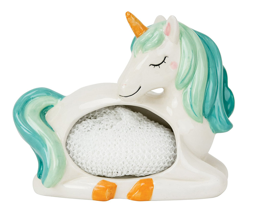 Boston Warehouse Unicorn Scrubby Holder