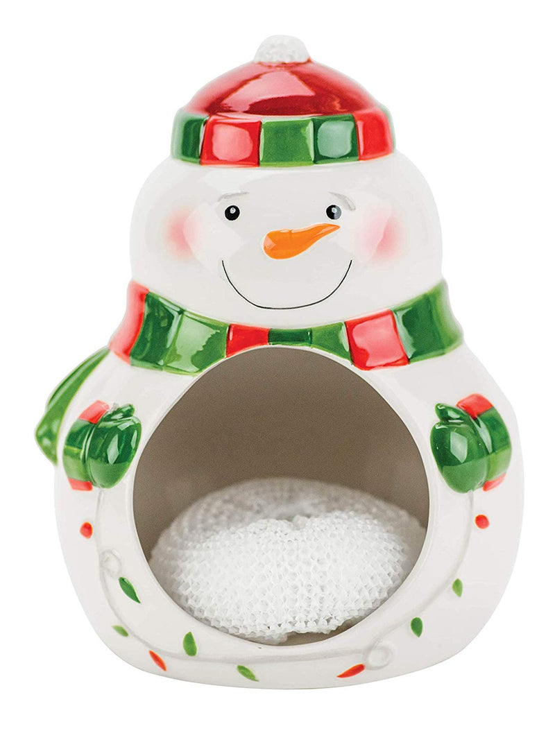 Holiday Lite Snowman Scrubby Holder