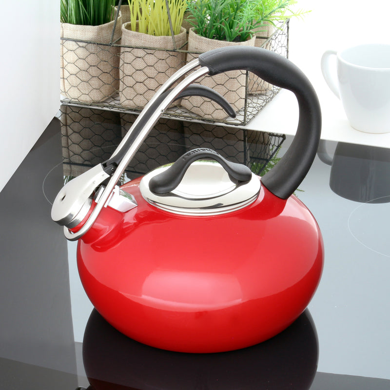 Chantal Classic Enamel-on-Steel Loop Teakettle