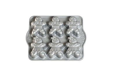 Nordic Ware Holiday Collection Gingerbread Kids Cakelet Pan,