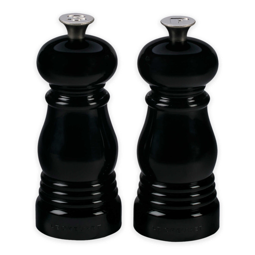 Le Creuset 2-Piece Petite Salt & Pepper Mill Set in Black