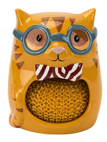 Boston Warehouse Smarty Cat Scrubby Holder