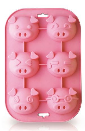 Silicone Zone Piggy 6-Cup Muffin Mold