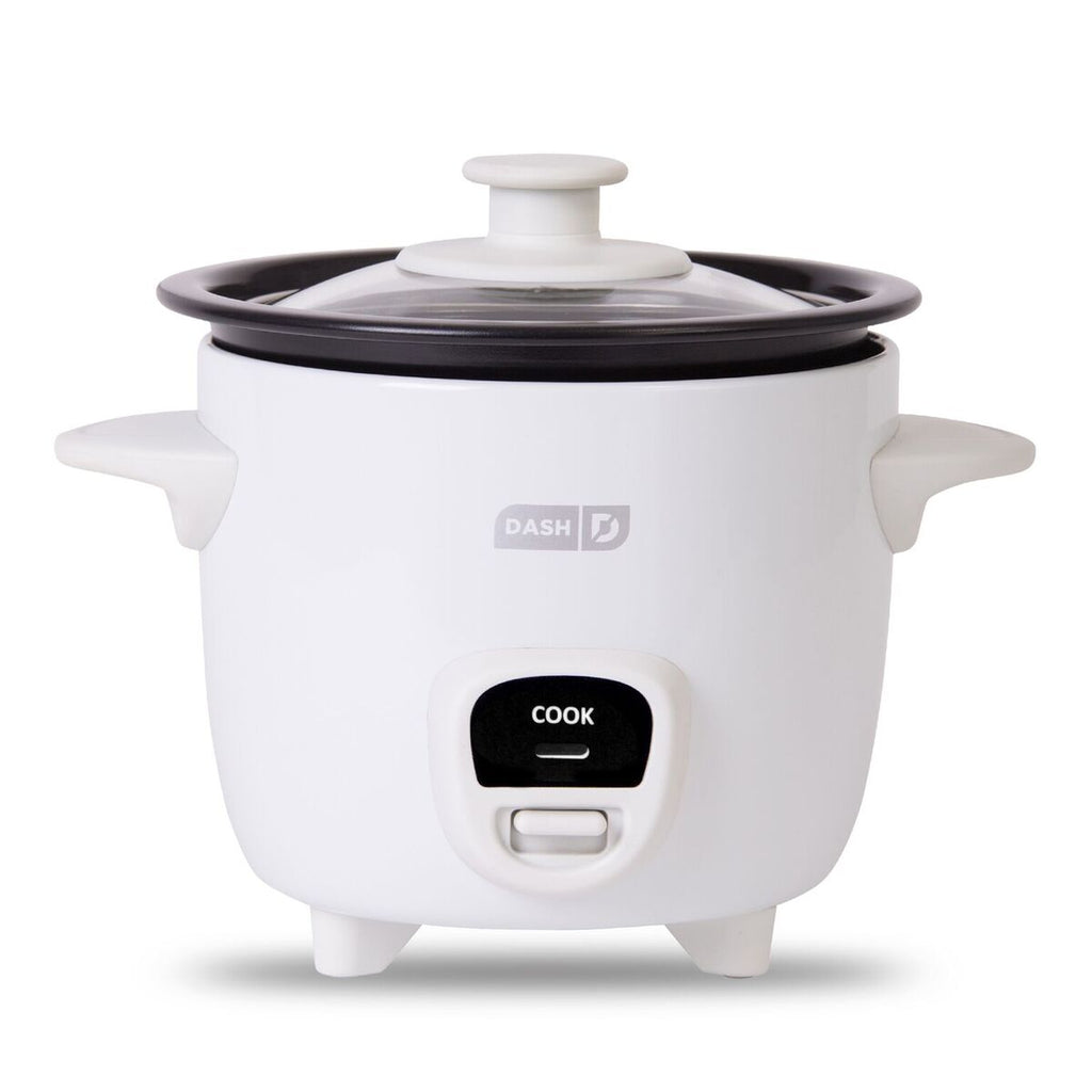 DASH 2-Cup Mini Rice Cooker One Touch Cooking - White
