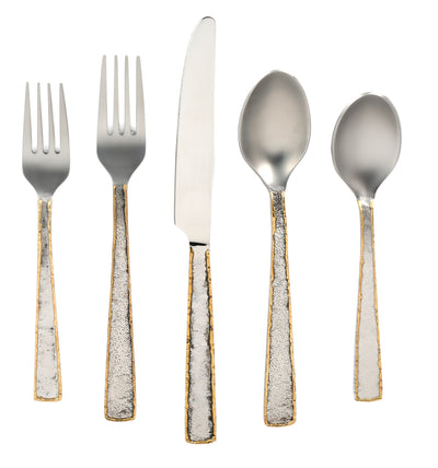 Cambridge Silversmiths Daksha Mirror Flatware, Set of 20