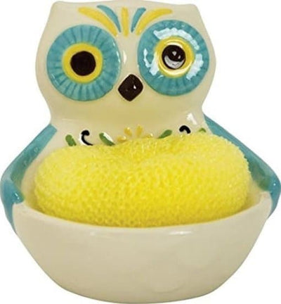Boston Warehouse Scrubby Holder - Floral Owl