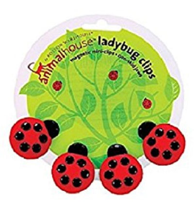 Animal House by Boston Warehouse Ladybug Magnet Mini Clip, Set of 4