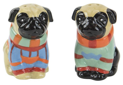 "Boston Warehouse ""Pugly Sweater"" Salt & Pepper Shakers"