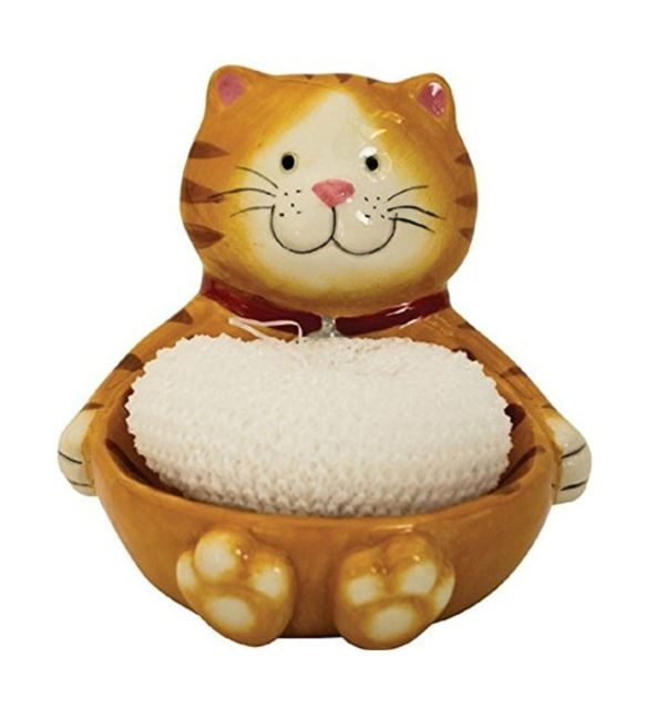Boston Warehouse Cat Scrubby Holder